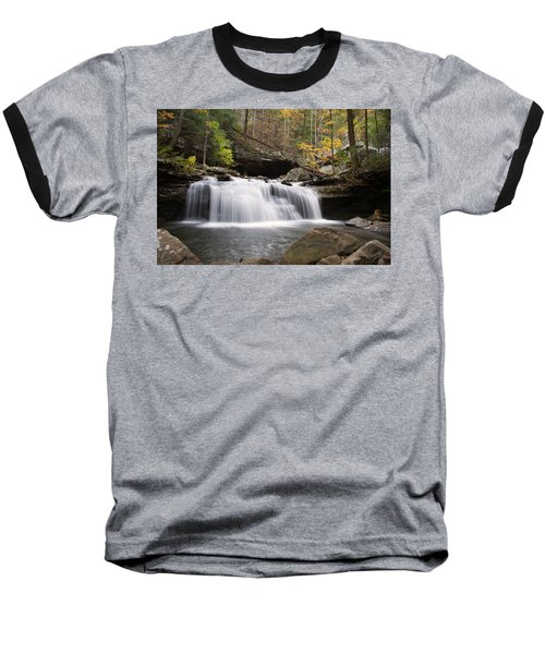 Canyon Waterfall Baseball T-Shirt