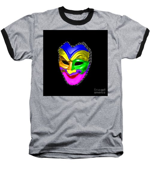Baseball T-Shirt featuring the photograph Carnival Mask by Blair Stuart