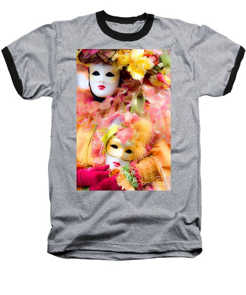 Baseball T-Shirt featuring the photograph Carnival Mask by Luciano Mortula