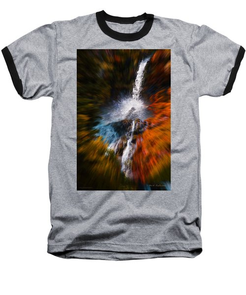 Cascade Waterfall Baseball T-Shirt by Mick Anderson