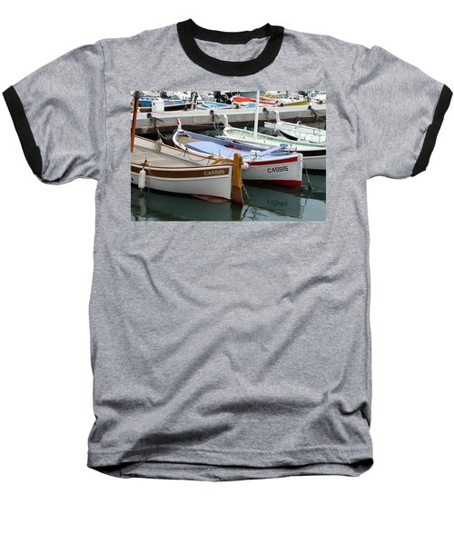 Cassis Harbor Baseball T-Shirt by Carla Parris