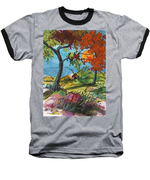 Catching Sundown Baseball T-Shirt by John Williams