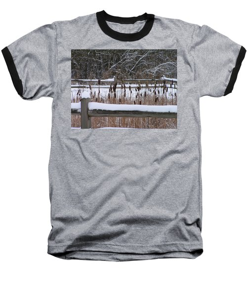 Cattails In The Pond Baseball T-Shirt