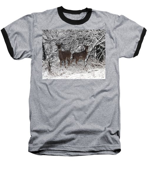 Baseball T-Shirt featuring the photograph Caught In The Snow Storm by Elizabeth Winter