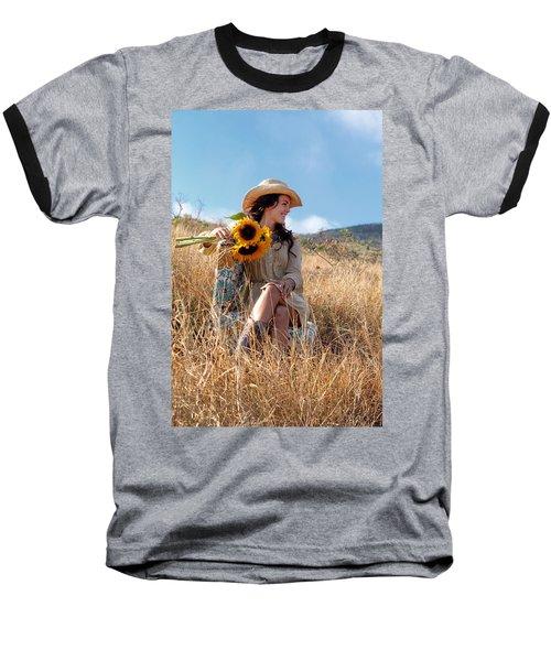 Celeste 1 Baseball T-Shirt by Dawn Eshelman