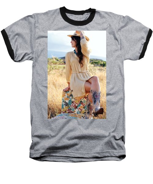Celeste 12 Baseball T-Shirt by Dawn Eshelman
