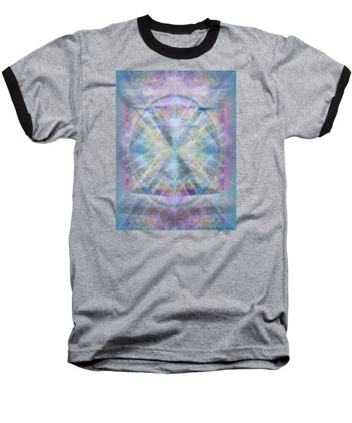 Chalice Of Vorticspheres Of Color Shining Forth Over Tapestry Baseball T-Shirt