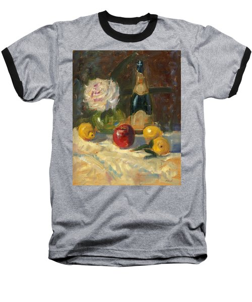 Champagne And Roses Baseball T-Shirt by Marlyn Boyd