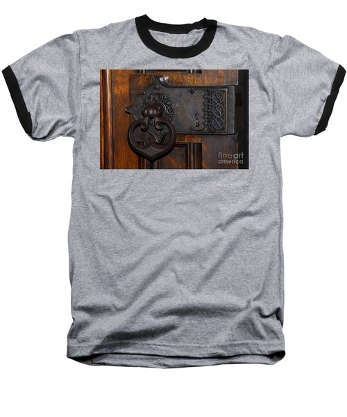 Baseball T-Shirt featuring the photograph Chapel Door by Cindy Manero