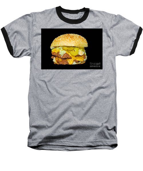 Baseball T-Shirt featuring the photograph Cheeseburger by Cindy Manero