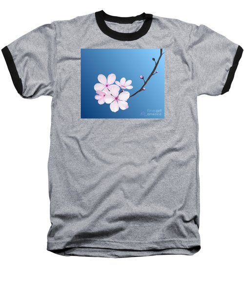 Cherry Blossoms Baseball T-Shirt by Rand Herron