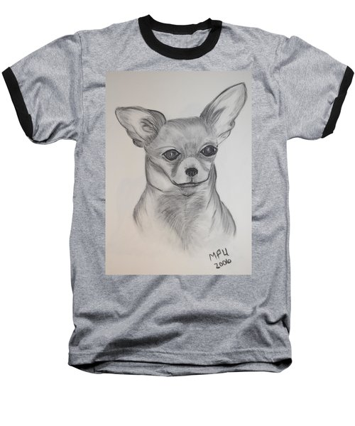 Baseball T-Shirt featuring the drawing Chi Chi by Maria Urso