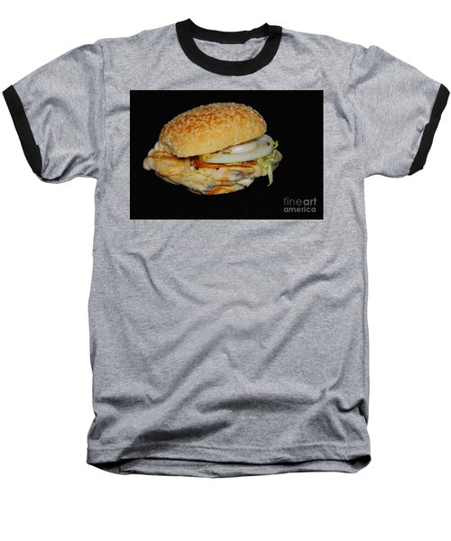 Baseball T-Shirt featuring the photograph Chicken Sandwich by Cindy Manero