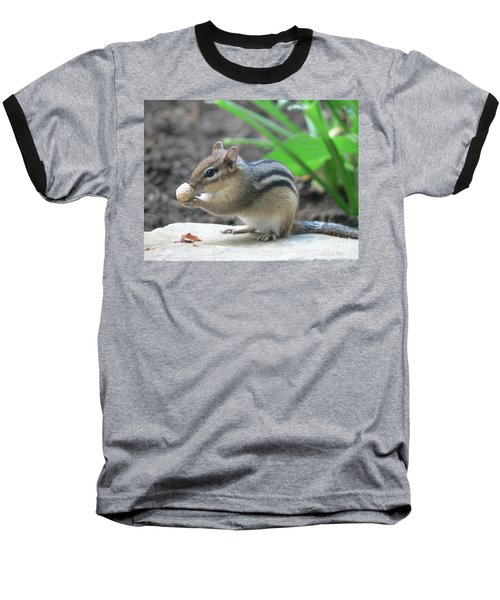 Baseball T-Shirt featuring the photograph Chipmunk by Laurel Best