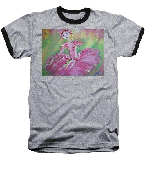 Christmas Ballerina Baseball T-Shirt by Judith Desrosiers