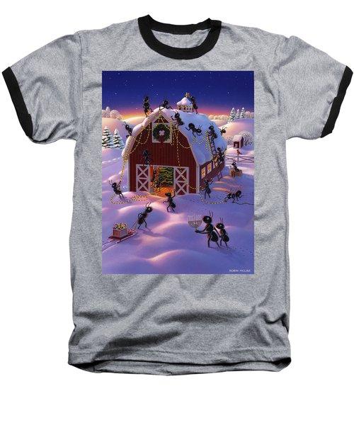 Christmas Decorator Ants Baseball T-Shirt
