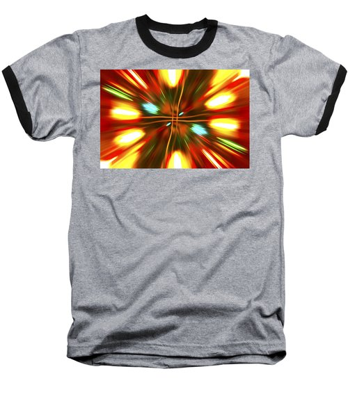 Baseball T-Shirt featuring the photograph Christmas Light Abstract by Steve Purnell