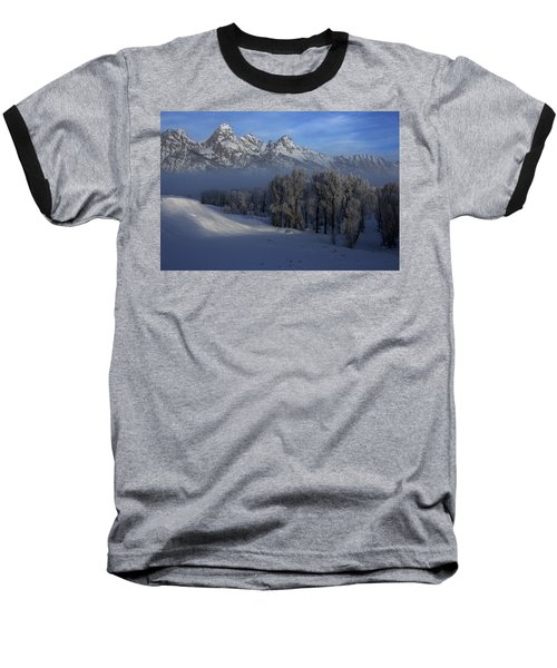 Christmas Morning Grand Teton National Park Baseball T-Shirt
