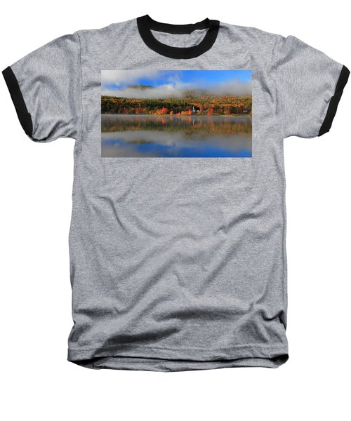 Church Across The Lake-panoramic Baseball T-Shirt