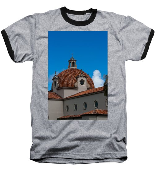 Baseball T-Shirt featuring the photograph Church Of The Little Flower Dome And Cross by Ed Gleichman