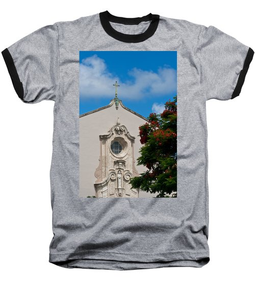 Baseball T-Shirt featuring the photograph Church Of The Little Flower by Ed Gleichman