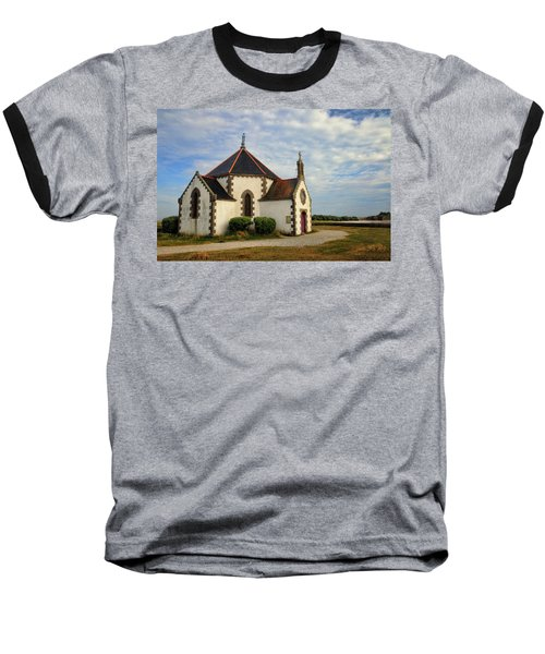 Baseball T-Shirt featuring the photograph Church Off The Brittany Coast by Dave Mills