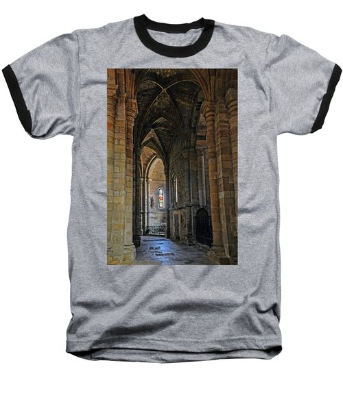 Baseball T-Shirt featuring the photograph Church Passageway Provence France by Dave Mills