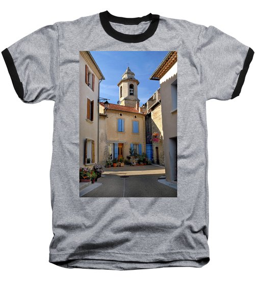 Baseball T-Shirt featuring the photograph Church Steeple In Provence by Dave Mills