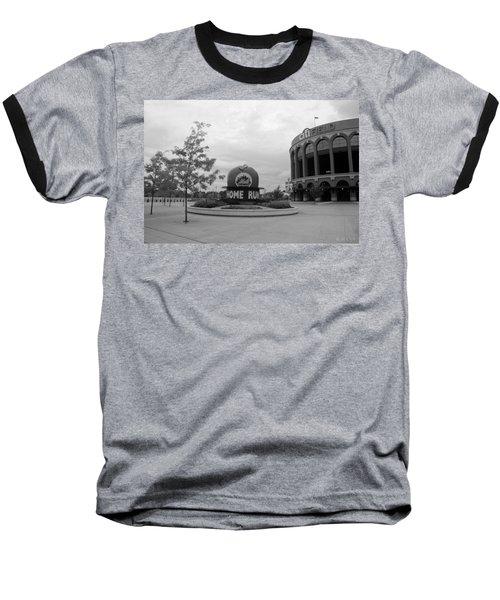 Citi Field In Black And White Baseball T-Shirt