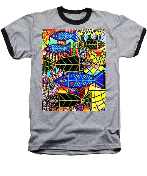 Citrine Coral Fish Baseball T-Shirt