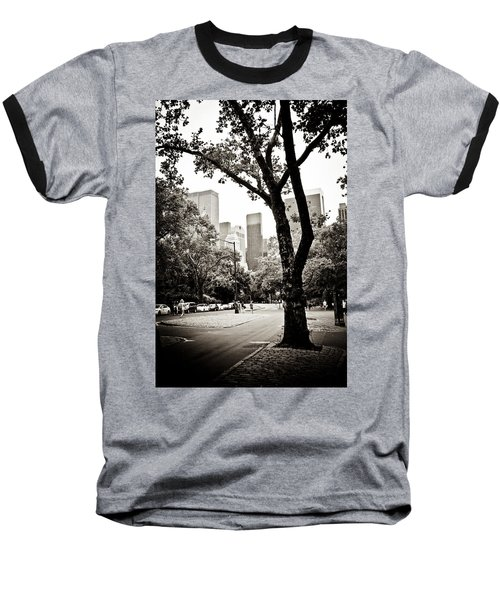 Baseball T-Shirt featuring the photograph City Contrast by Sara Frank