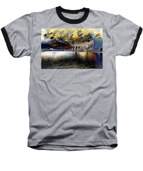 City Of Color Baseball T-Shirt by Douglas Barnard