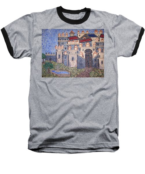 Baseball T-Shirt featuring the painting City Of Granada Old Map by Cynthia Amaral