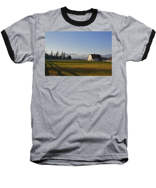 Classic Barn In The Country Baseball T-Shirt by Mick Anderson