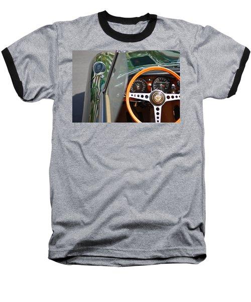 Classic Green Jaguar Artwork Baseball T-Shirt