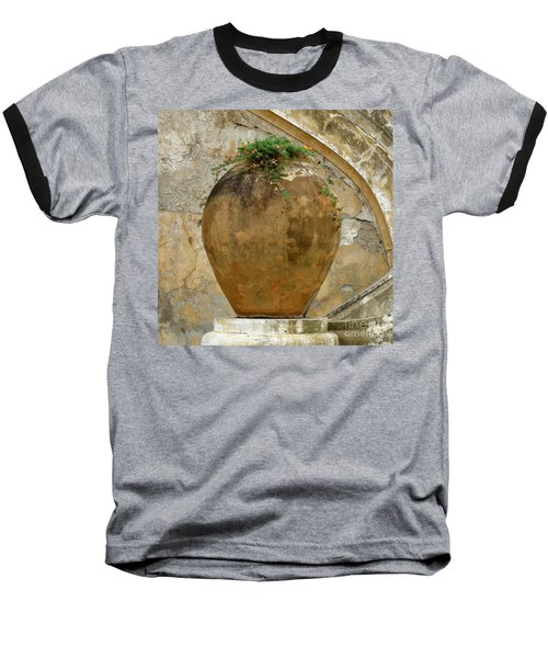 Clay Pot Baseball T-Shirt by Lainie Wrightson