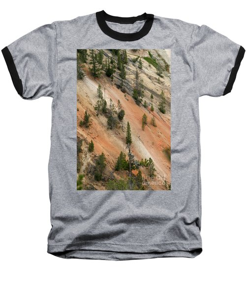 Cliff Side Grand Canyon Colors Vertical Baseball T-Shirt by Living Color Photography Lorraine Lynch