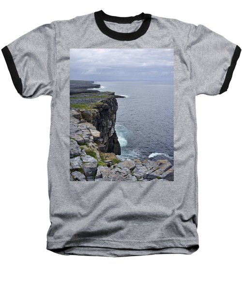Baseball T-Shirt featuring the photograph Cliffs Of Inishmore by Hugh Smith