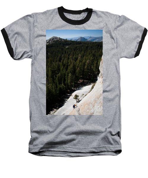 Climber In Yosemite Baseball T-Shirt