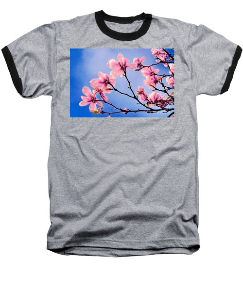 Cherry Blossums Baseball T-Shirt