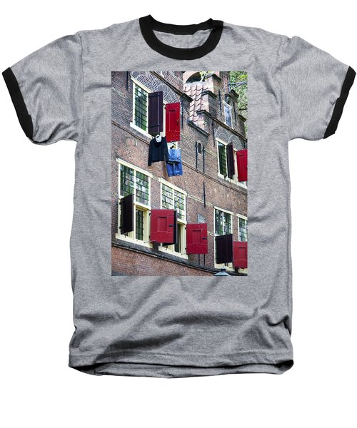 Clothes Hanging From A Window In Kattengat Baseball T-Shirt