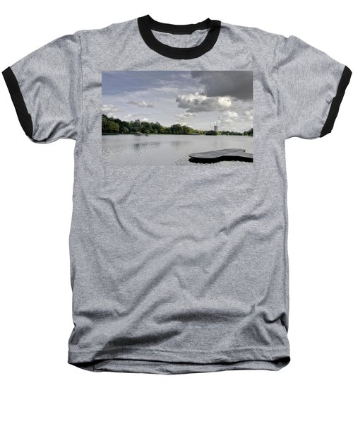 Baseball T-Shirt featuring the photograph Cloudy Hyde Park by Maj Seda
