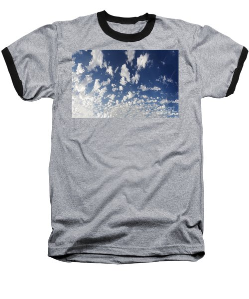 Cloudy Sky Baseball T-Shirt