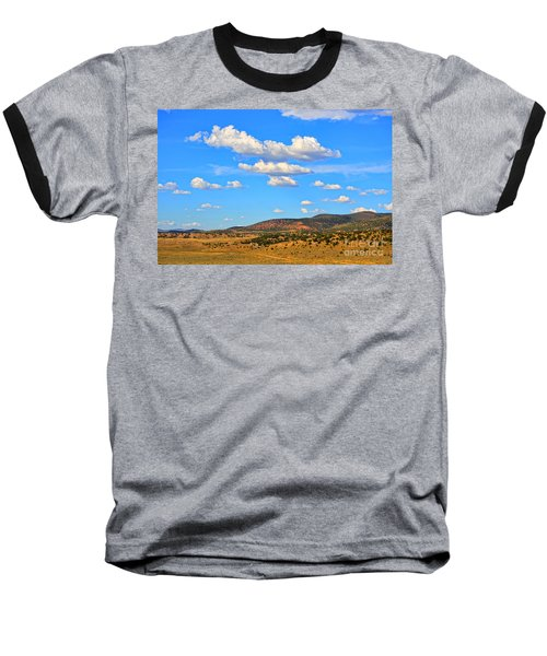 Cloudy Wyoming Sky Baseball T-Shirt