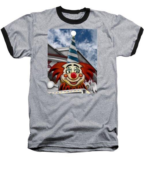 Clown Around Baseball T-Shirt by Colleen Kammerer