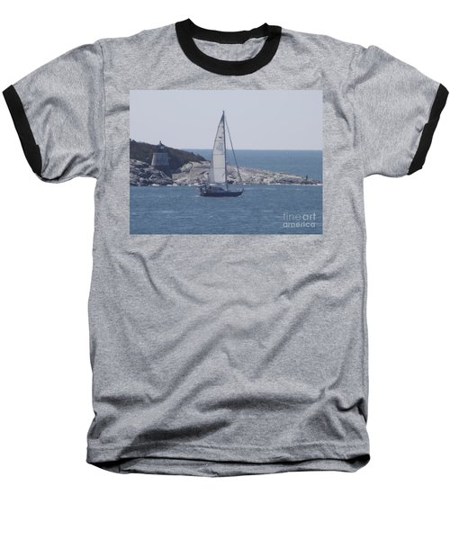 Coastal Newport Ri  Baseball T-Shirt