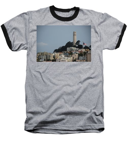 Baseball T-Shirt featuring the photograph Coit Tower by Eric Tressler