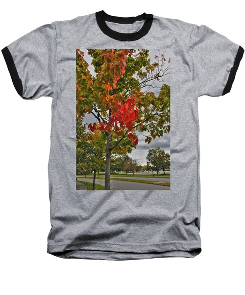 Baseball T-Shirt featuring the photograph Cold Autumn Breeze  by Michael Frank Jr