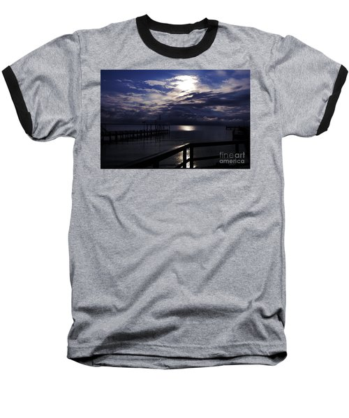 Baseball T-Shirt featuring the photograph Cold Night On The Water by Clayton Bruster