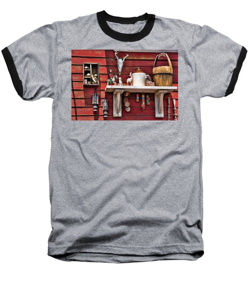 Collection On The Barn Baseball T-Shirt by Jan Amiss Photography
